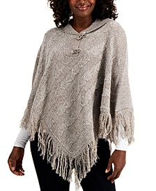 Toggle-Button Poncho, Created for Macy's