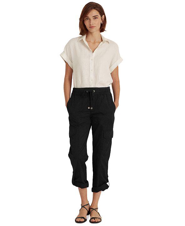 Lauren Ralph Lauren Roll-Cuff Cargo Pants