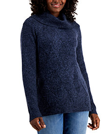 Karen Scott Cowlneck Tunic Sweater, Created for Macy's