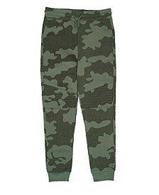 Big Boys Drawstring Camo Basic Knit Jogger