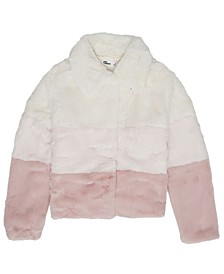 Big Girls Color Block Cony Plush Jacket