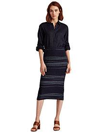 Lauren Ralph Lauren Striped A-Line Skirt