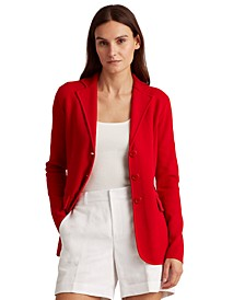Combed Cotton-Blend Blazer