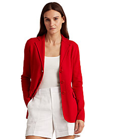 Lauren Ralph Lauren Combed Cotton-Blend Blazer