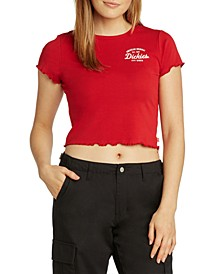 Juniors' Logo Cropped Baby T-Shirt
