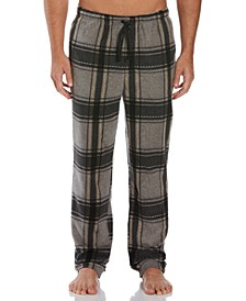 Men's Relaxed-Fit Plaid Fleece Pajama Pants