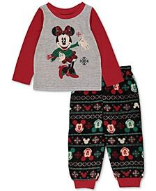 Matching Toddler Girls Holiday Mickey & Minnie Family Pajama Set