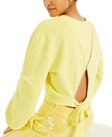 CULPOS X INC Cutout-Back Sweatshirt, Created for Macy's