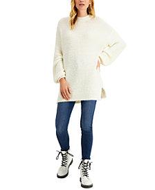 Sun + Moon Balloon-Sleeve Tunic Sweater