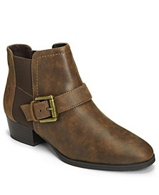 Women's Cross Out Low Heel Bootie