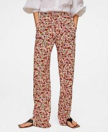 Women's Flower Print Pants