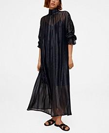 Women's Metallic Thread Dress