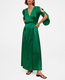 Women's Cotton Wrap Dress