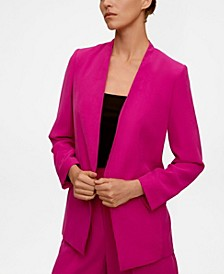 Women's Structured Blazer Without Lapels
