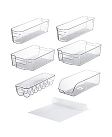 Set of 10 Refrigerator Shelf Organizer