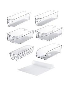 Set of 10 Refrigerator Shelf Organizer