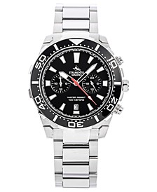 Men's Chronograph Skipper Stainless Steel Bracelet Watch 44mm, Created for Macy's