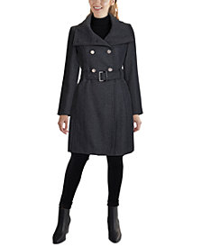 GUESS Double-Breasted Belted Coat