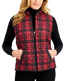 Fireside Plaid Vest, Created for Macy's