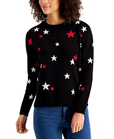 Metallic Star-Print Sweater, Created for Macy's