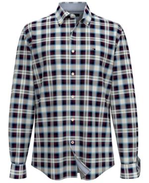Tommy Hilfiger Men's Big & Tall Tartan Long-Sleeve Shirt