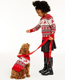 Little Girls Reindeer Sweater, Created for Macy's