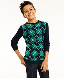 Big Boys Argyle Sweater, Created for Macy's