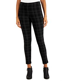 Flocked Plaid Pull-On Pants, Created for Macy's