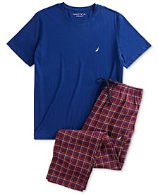 Men's T-Shirt and Flannel Pants Pajama Set