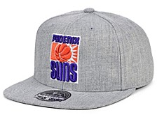 Phoenix Suns Hardwood Classic Team Heather Fitted Cap