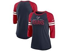 Nike Houston Texans Women's Three-Quarter Sleeve Raglan Shirt