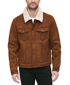 Men's Relaxed-Fit Faux-Shearling Trucker Jacket
