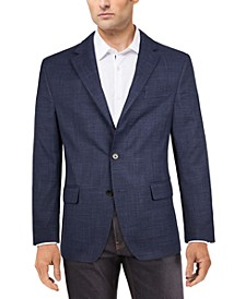 Men's Classic-Fit Ultraflex Stretch Blue Plaid Sport Coat