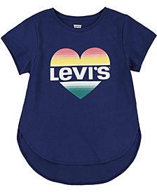 Levi's Big Girls Heart Logo High-Low T-Shirt