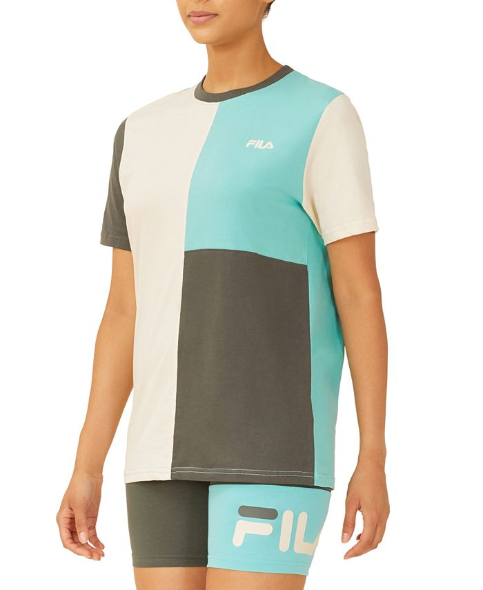 Fila - Cotton Colorblocked Boyfriend T-Shirt