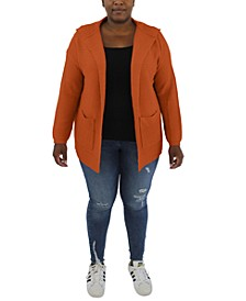 Trendy Plus Size Hooded Sweater
