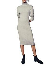 Turtleneck Sheath Dress