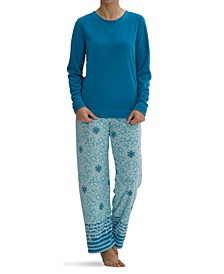 Sueded Fleece Snowflake Pajama Set