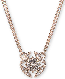 """Givenchy Stone & Crystal Pendant Necklace, 16"""" + 3"""" extender"""