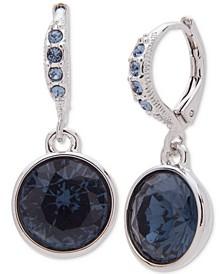 Round Stone Drop Earrings