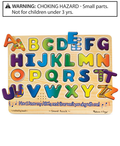 Melissa And Doug Kids Toy Alphabet Sound Puzzle Toys