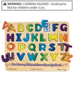 Melissa and Doug Kids Toy, Alphabet Sound Puzzle 1095751