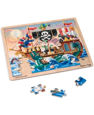 Melissa and Doug Kids Toy Pirate Adventure 48Piece Jigsaw Puzzle