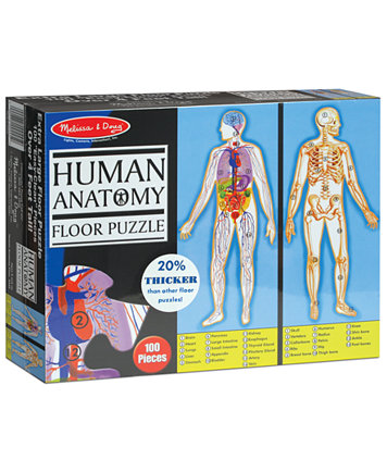 Melissa And Doug Kids Toy Human Body 100 Piece Floor Puzzle Toys