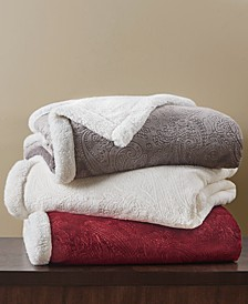 Carved Sherpa Throw; Created For Macy's