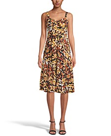 INC Sweetheart-Neck Printed Fit & Flare Dress, Created for Macy's