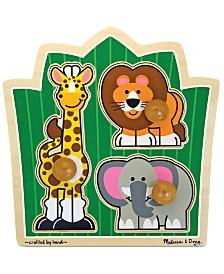 Melissa and Doug Kids Toy, Jungle Friends Jumbo Knob Safari Puzzle