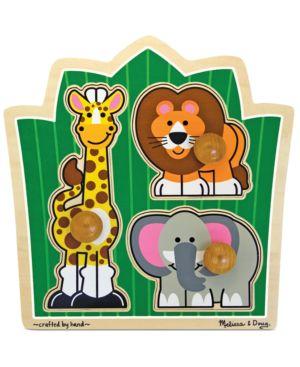 Melissa and Doug Kids Toy, Jungle Friends Jumbo Knob Safari Puzzle 1095832