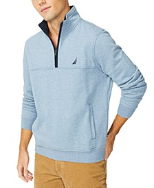 Men's Solid Quarter Zip Fleece Pullover