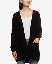 Juniors' Chenille Cardigan